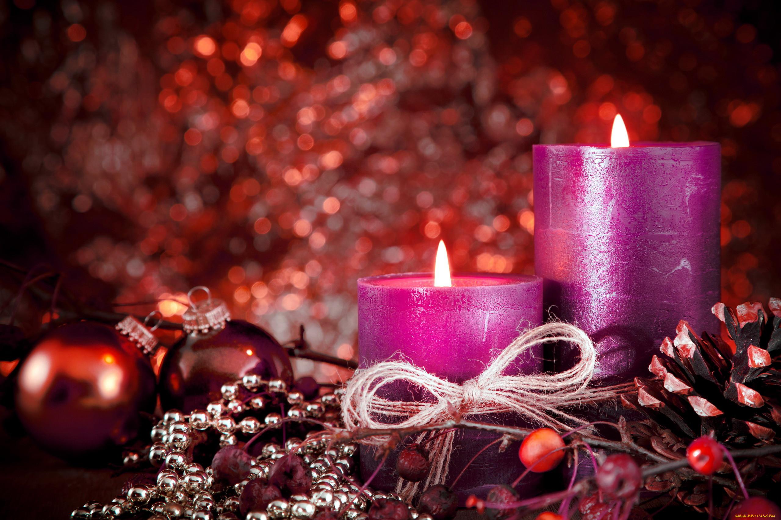 Новогодние картинки со свечей